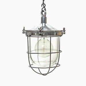 Lampe à Suspension avec Globe en Verre, 1950s