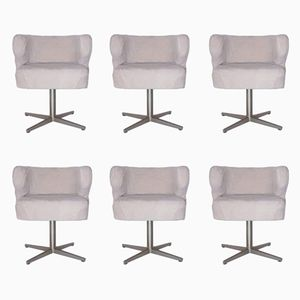 Vintage Pony Armchairs by Giulio Moscatelli for Formanova, Set of 6