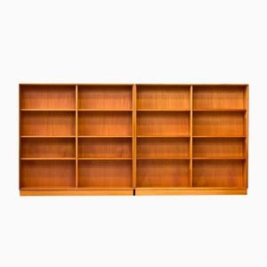 Teak & Oak Bookshelves by Bertil Fridhagen for Bodafors, 1962, Set of 2
