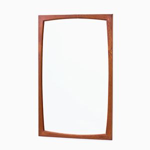 Rectangular Teak Wall Mirror by Kai Kristiansen for Aksel Kjersgaard, 1950s