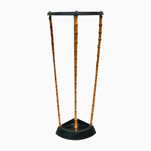 Victorian Bamboo & Cast Iron Umbrella Stand from Artis, 1890s