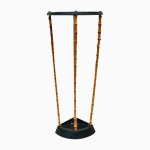 Victorian Bambus & Cast Iron Umbrella Stand from Artis, 1890s