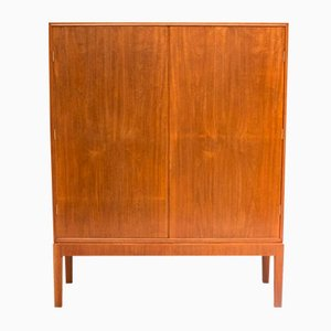Vintage Mahogany Linen Cabinet by CB Hansen