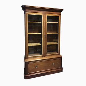Vintage Library Cabinet with 2 Doors, Drawer, Shelves, & Round Edges