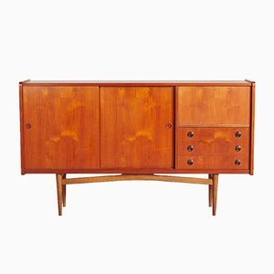 Mid-Century Danish Teak Highboard, 1960s