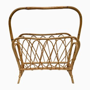 Wicker Magazine Rack, 1960s