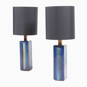 Hand-Thrown Ceramic Table Lamps from Søholm, 1960s, Set of 2