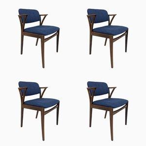 Palisander Armlehnstühle von Kai Kristiansen für Bovenkamp, 1960er, 4er Set