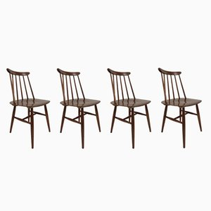 Fanett Chairs by Ilmari Tapiovaara for Edsby Verken, 1962, Set of 4