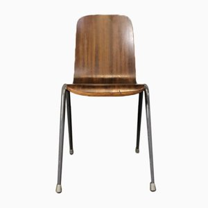 Mid-Century Toby Stacking Chair in Plywood & Steel from H. Morris