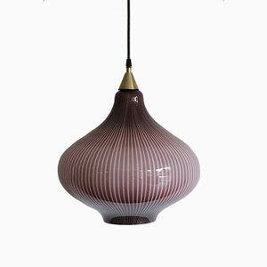 Pendant Glass Lamp by Massimo Vignelli for Venini, 1950s