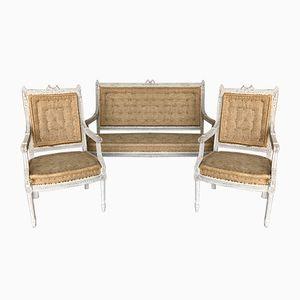 Antike gustavianisches Lounge Set, 1900er
