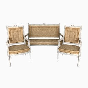 Antique Gustavian Lounge Set, 1900s