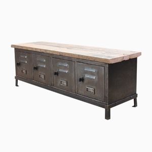 Vintage Low Industrial Cabinet