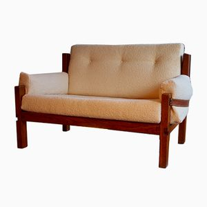 Mid-Century Loveseat Couch by Pierre Chapo