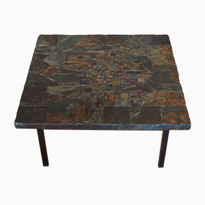 Mid-Century Stone Mosaic Coffee Table by Rogier Vandeweghe