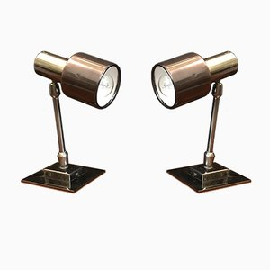 Metal Table Lamps, 1970s, Set of 2