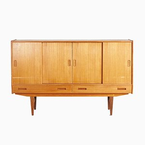 Mid-Century Danish Golden Teak Highboard, 1960s