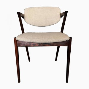 Model 42 Dining Chairs by Kai Kristiansen for Schou Andersen, 1960s, Set of 10
