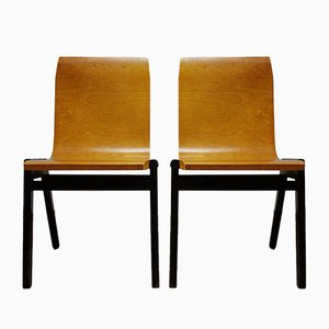 Vintage Stackable Chairs by Roland Rainer, Set of 2