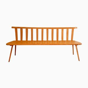 Mid-Century Dutch Beech Bench, 1960s