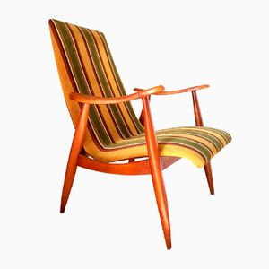 Vintage Dutch Lounge Chair by Louis van Teeffelen for WéBé