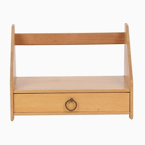 Vintage Beech Wall Shelf by Hans J. Wegner for FDB