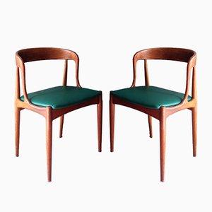 Modell 16 Stühle in Teak von Johannes Andersen für Uldum, 1960er, 2er Set