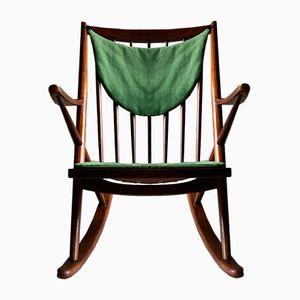 Model 182 Walnut Rocking Chair by Frank Reenskaug for Bramin Mobler, 1960s