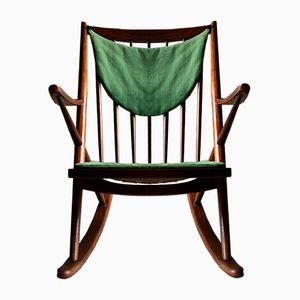 Rocking Chair Modèle 182 en Teck par Frank Reenskaug pour Bramin Mobler, 1960s