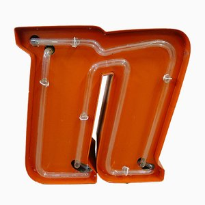 Dutch Neon Letter N Sign, 1970s