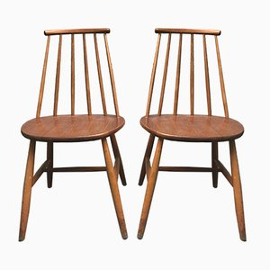 Swedish Chairs from Hagafors, 1950s, Set of 2