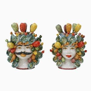 Pair of Sicilian Vases, 1950s