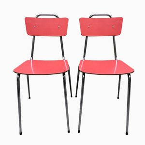 Red Metal Ant Chairs, Set of 2