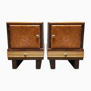 Art Deco Nightstands, Set of 2
