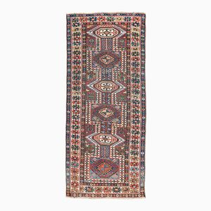 Antique Shirvan Rug with Geometric Designs, 1880s