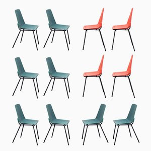 Vintage Plastic Chairs from Fantasia France, 1960s, Set of 12