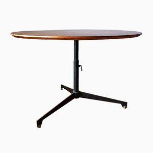 Walnut, Iron & Brass Table by Osvaldo Borsani for Tecno, 1950s