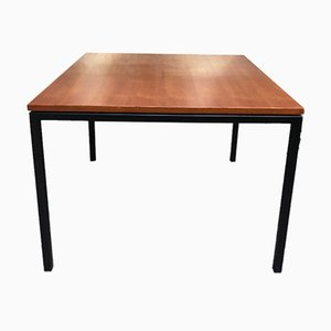 Square Teak Table with Metal Legs by Paolo Tiche for Arform, 1950s