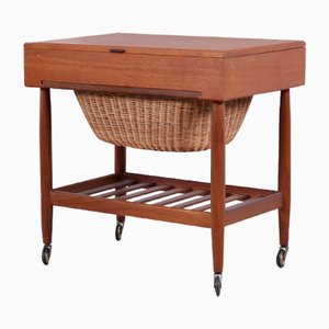 Danish Teak Sewing Table by Ejvind A. Johansson for FDB, 1960s