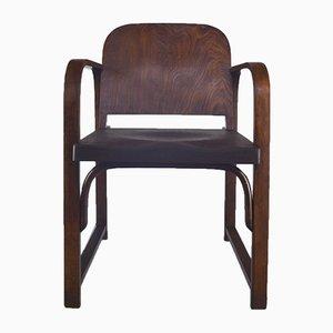 Butaca A 745 F de madera curvada de Thonet, años 30