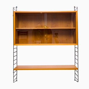 Wall Shelf with Showcase by Kajsa & Nils Nisse Strinning for String, 1960s