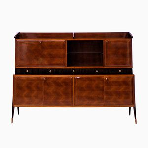 Large Architectural Bar Cabinet, 1950s