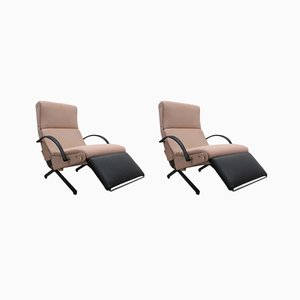 P40 Modular Lounge Chairs by Osvaldo Borsani for Tecno, 1950s, Set of 2