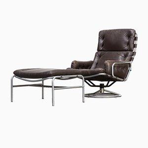 Model SZ19 Lounge Chair & Ottoman by Martin Visser for 't Spectrum, 1970s
