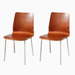 Dutch Side Chairs by Friso Kramer for Auping, 1960s, Set of 2
