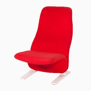 Red Concorde Lounge Chair by Pierre Paulin for Artifort, 1960s