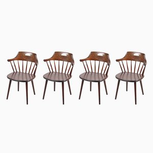 Swedish Dining Chairs by Ekstrom, 1950s, Set of 4