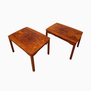 Tables Basses Vintage en Palissandre, Suède, Set de 2