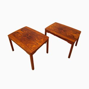 Vintage Swedish Rosewood Coffee Tables, Set of 2